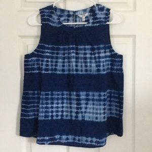 NWT tie dye blue tank. Bells out at waist.